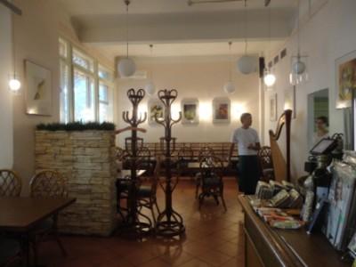 внутри кафе Авокадо на Чистых прудах в Москве