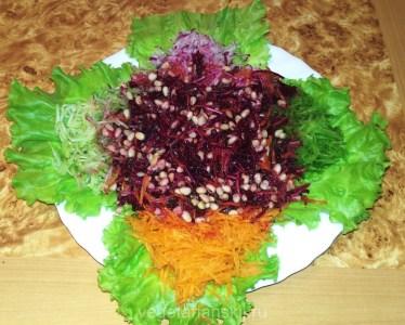 Сыроедческий свекольник (салат)