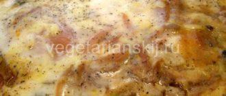 Вегетарианская мусака с баклажанами и картофелем