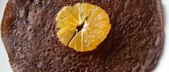 Веганские шоколадные блины