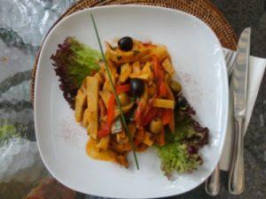 сейтан с овощами