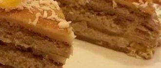 Веганский блинный торт