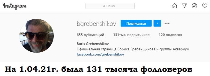 Борис Гребенщиков инстаграм